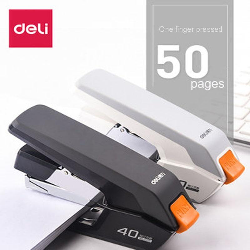 Deli Labor-saving Stapler Office Supplies Student Special Mini Small Stapler Standard Multi-function Practical Stapler