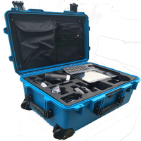 2018Tricases factory OEM/ODM hard IP67 plastic large suitcase trolley tool case with customized foam M2950(Blue)