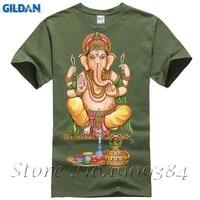 LORD GANESH GOD Hindu Elephant Ganesha T Shirt Cotton Lycra Top 10889 Fashion Brand T Shirt