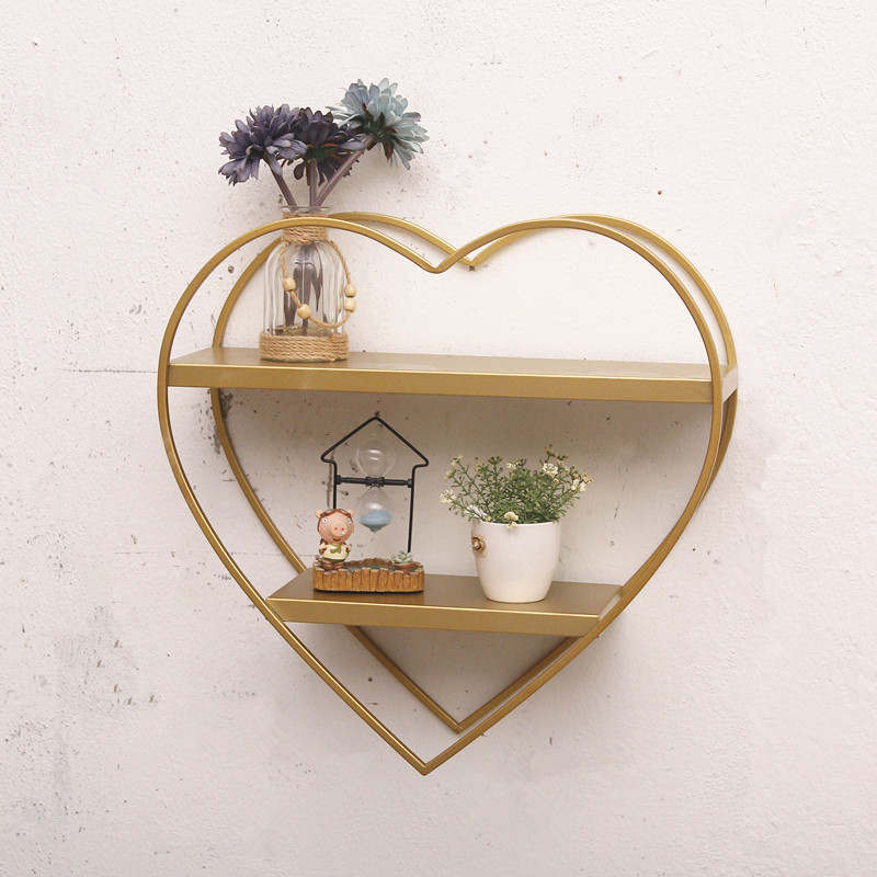 Nordic Style Wall Shelves Wall Iron Creative Decorations Decorative