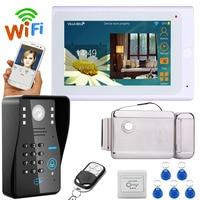 YobangSecurity Video Intercom 7 Inch LCD Wifi Wireless Video Doorbell Phone Camera Monitor System With Door