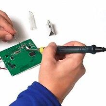 5 В 8 Вт Мини Портативный USB Электрический Powered Паяльник Наконечник Пера с Сенсорным Переключатель Защитная Крышка