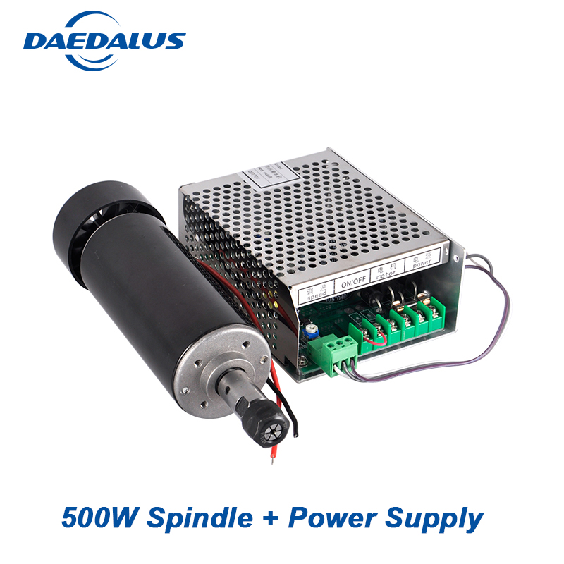 CNC Spindle Motor 500W Air Cooled Spindle ER11 Chuck +110V 220V Power Supply Speed Governor For Engraver Machine Tools 500w spindle motor 0 5kw air cooled spindle er11 collet chuck adjustable power supply speed governor for pcb milling machine