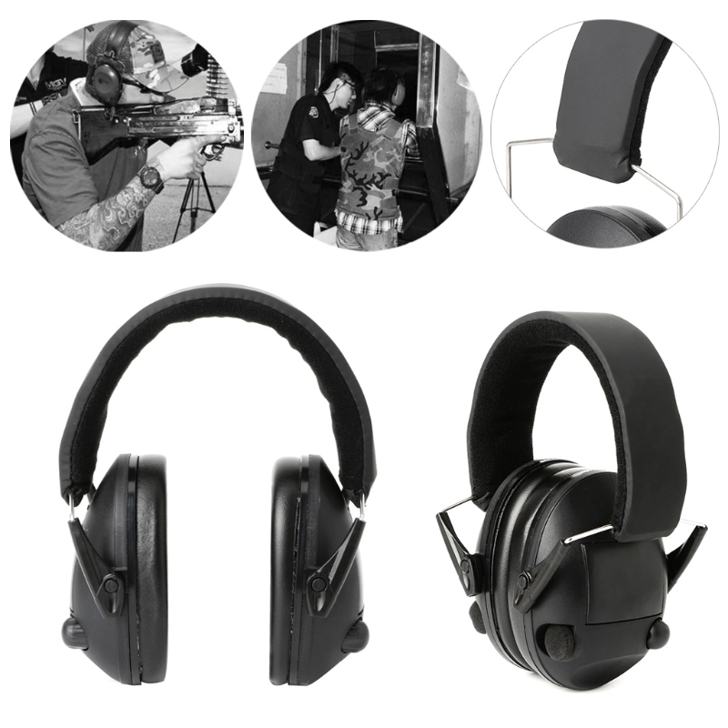 Foldable Hearing Protection Ear Muffs Noise Cancelling Earmuff Shooting Sports skagen ремни и браслеты для часов skagen sk694xltmb page 5