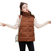 New 2018 autumn and winter women cotton vest white duck down soft warm waistcoat plus size female outwear brand vest coat