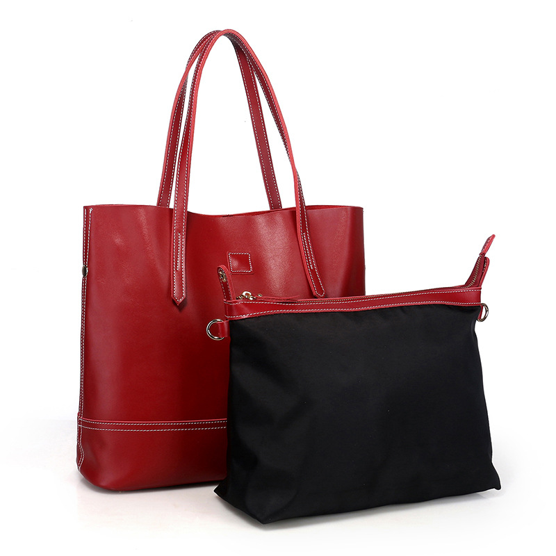 High-grade Genuine Leather Women Handbags Female Simple Soft Tote Bag Large Capacity Shoulder Bags Ladies Casual Shopping Bags casual women leather handbags bucket shoulder bags ladies cross body bags large capacity ladies shopping bag bolsa 6 colors