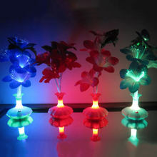 LED Fiber Flower Kapok Vase Optical Fiber Lamp Decoration Lighting Fixture(China)