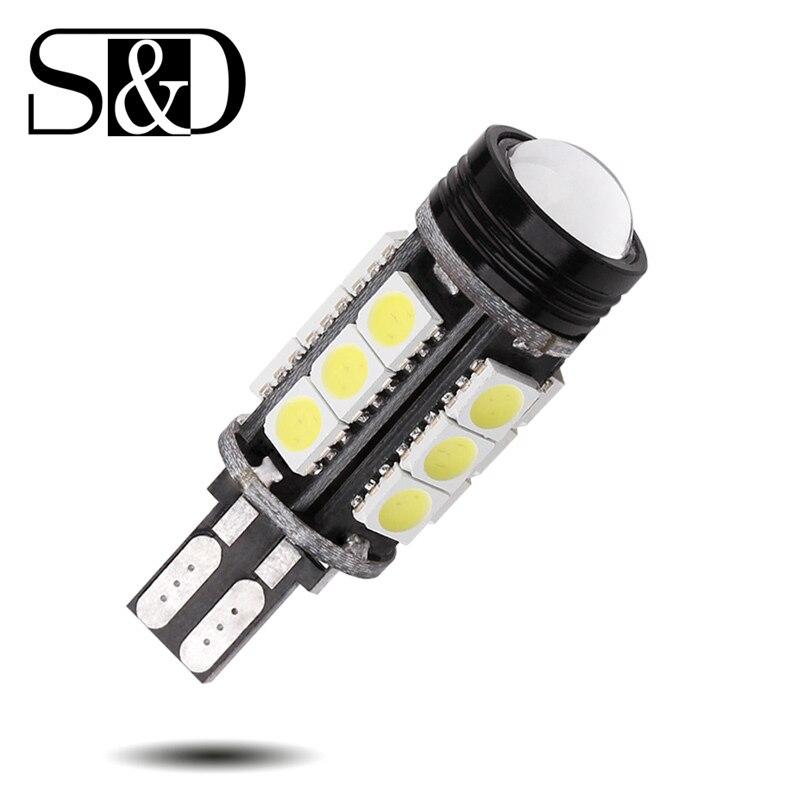 T15 CANBUS ОШИБОК УДАРА лампы CREE чип излучатель LED 921 912 W16W светодиодные лампы для автомобилей Внешнее освещение 5050 SMD 12 В ксеноновые Белый D025