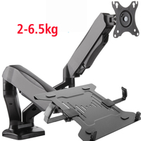 DL TC012 Desktop Full Motion 13 27inch Monitor Holder Mount +10 17inch Laptop Support Mechanical Spring Dual Arm 6.5kgs Each
