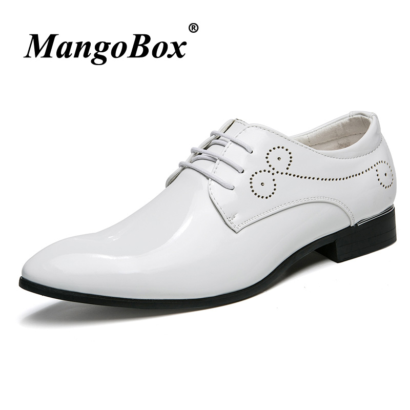 New Arrival Oxford Men Shoes Pu Male Leather Shoes Red White Wedding Men Dress Footwear Brand Luxury Mens Fashion Oxfords Shoes mycolen mens shoes round toe dress glossy wedding shoes patent leather luxury brand oxfords shoes black business footwear