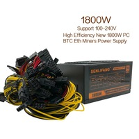 1800W For Mining Bitman Switching Power Supply For R9 380 RX 470 RX480 6 GPU CARDS