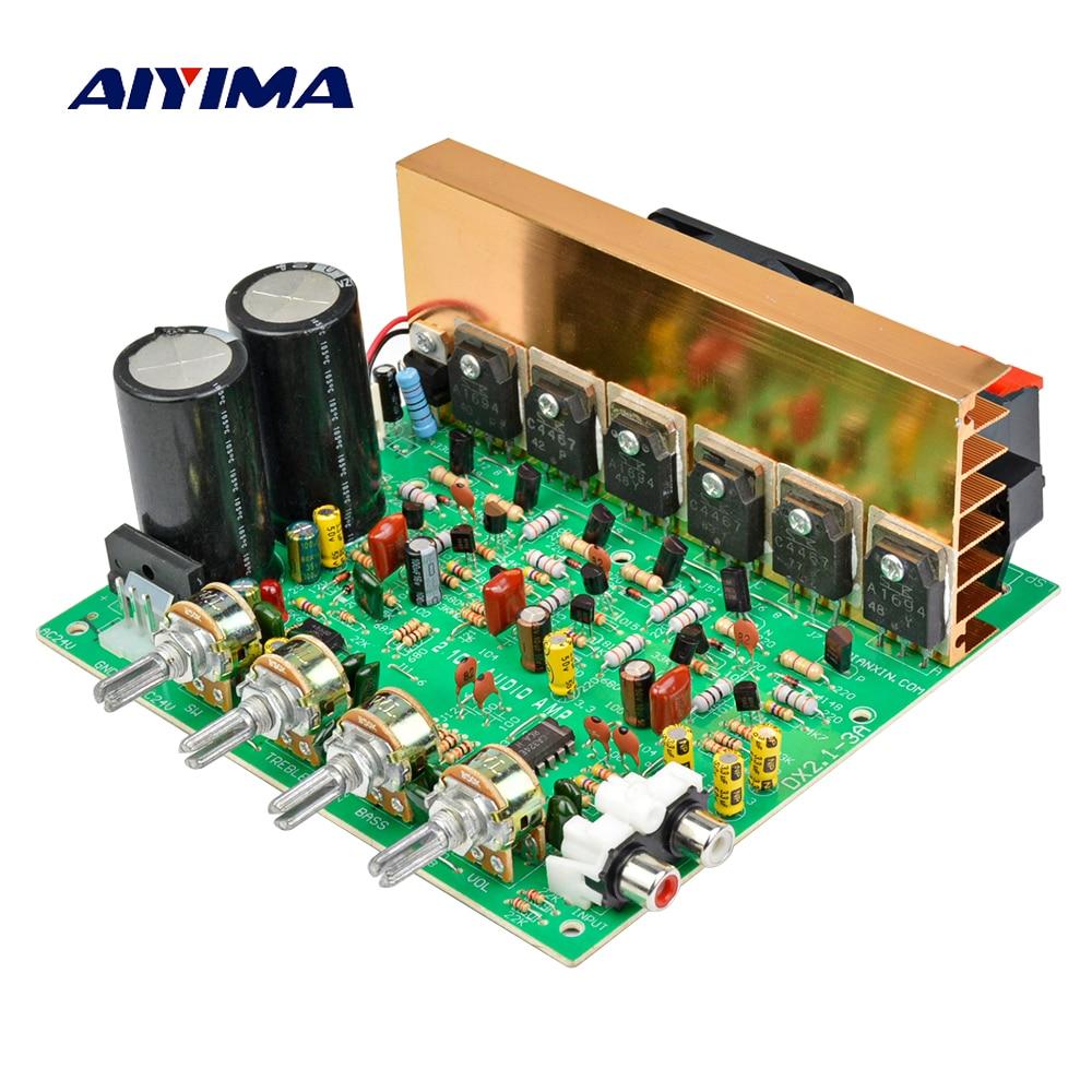 AIYIMA Placa De Amplificador de Áudio 2.1 Canais de 240W de Alta Potência Placa Amplificador Subwoofer AMP Dual AC18-24V Home Theater