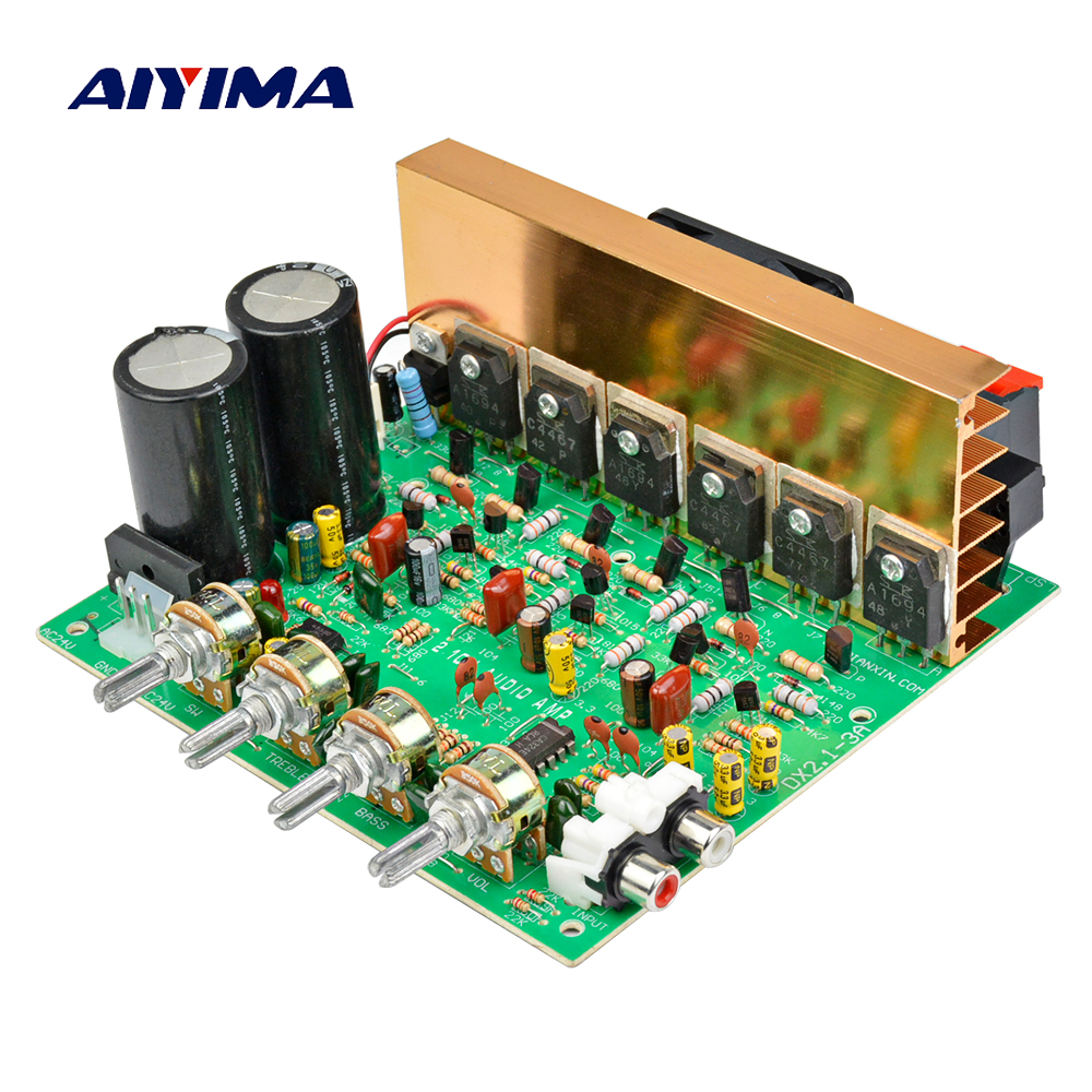 Aiyima Audio Amplifier Board 2.1 Channel 200W High Power Subwoofer Amplifier Board Dual AC18-24V 4 1 channel lm4780 amplifier finished board ac 24v 28v 4x68w 130w subwoofer