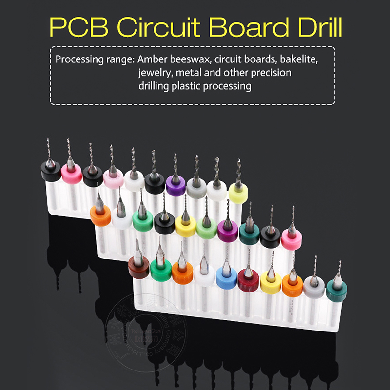 PCB Print Circuit Board Drill Bits PCB Drill Tool Kit Carbide Micro CNC PCB Drill Bits Power Tools Circuit Board Drill 10 pcs 0 3 1 2 mm hard alloy tungsten steel micro pcb cnc drill bits for circuit boards makita power tools accessories 3 1 tool