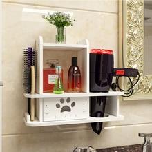 קיר מדף בחדר אמבטיה מחזיק מייבש שיער מדף אסלת נייל משלוח אמבטיה מתלה Estante Prateleira דה פארדה אביזרי אמבטיה