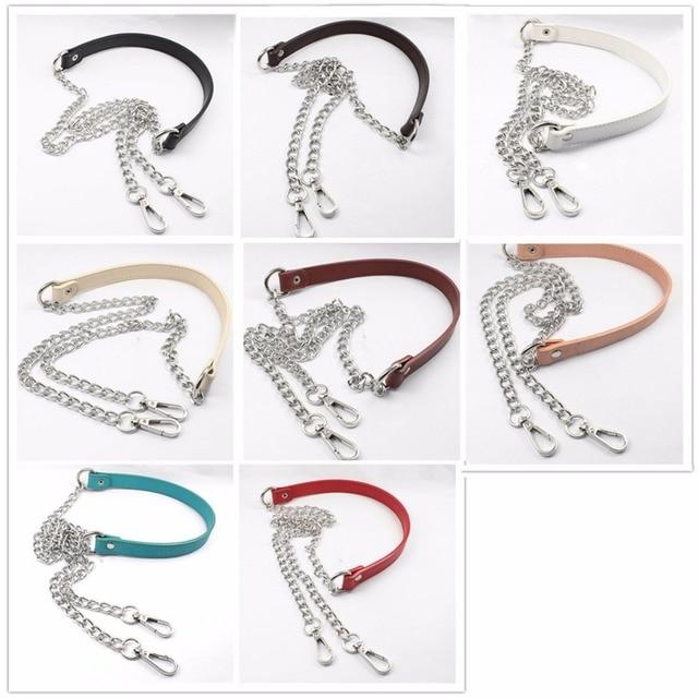 Diy 70cm 100cm 120cm Metal Silver Chains Replacement Shoulder Bag Straps For Handbag