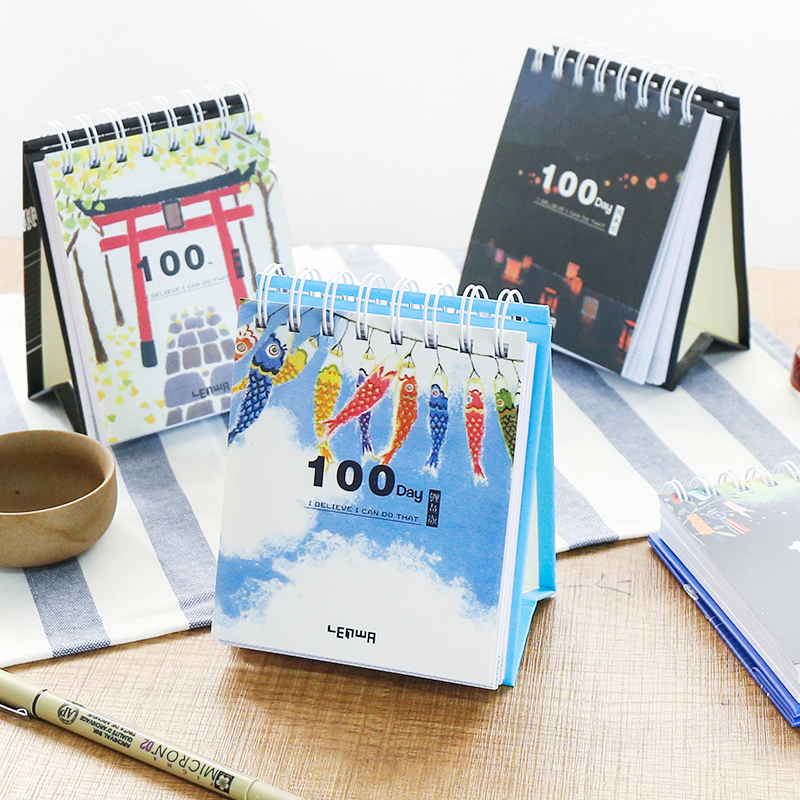 100 Days ver.3 Mini Pocket Daily Planner Memo Journal Notebook Diary Cute Coil Study Agenda Notepad Free Note 12style 125 185mm blank paper diary sketchbook cute planner pocket journal school study notebook korean agenda notepad memo gift
