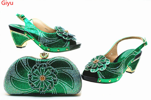 nice green Shoes with Matching Bags 2018 African silver Shoe and Bag Set Italian Design African Shoes and Bag Set  SSN1-15nice green Shoes with Matching Bags 2018 African silver Shoe and Bag Set Italian Design African Shoes and Bag Set  SSN1-15