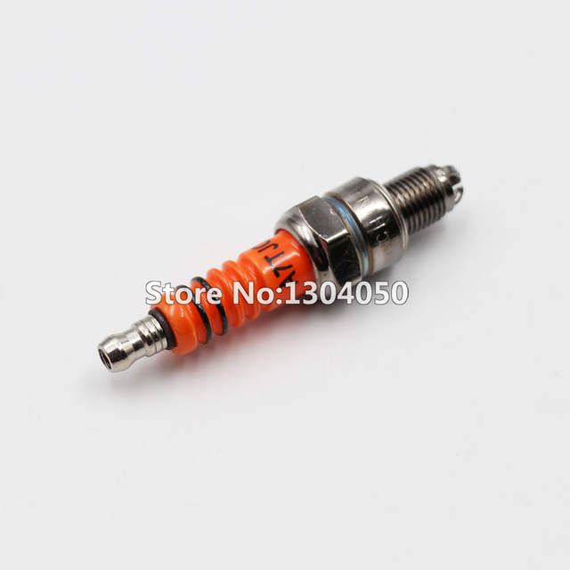 US $3 85 13% OFF|3 Electrode Spark Plug A7TC A7TJC For GY6 50 125cc Moped  Scooter ATV Quads C7HSA CR7HSA-in Motorbike Ingition from Automobiles &