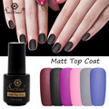 Saviland 7ml Matte Top Coat Gel Nail Polish Soak Off Long Lasting UV Gel Lacquer Transparent Color Matte Top Coat