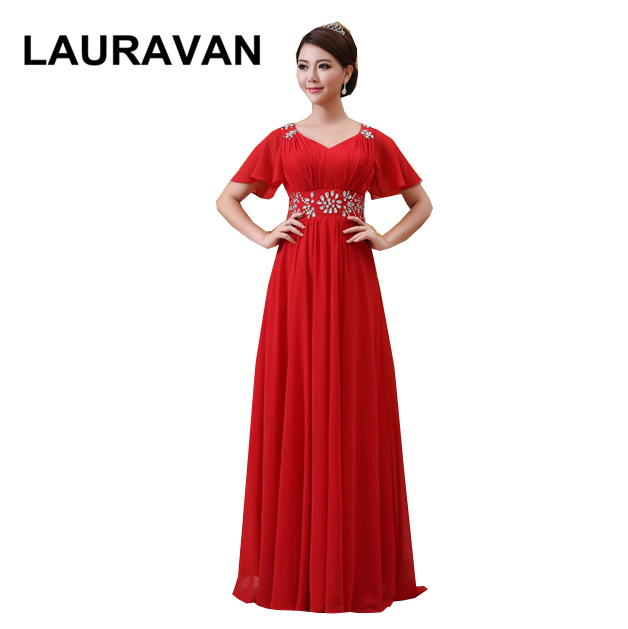2019 High Fashion V Neck Country Red Purple Champagne Girls Chiffon Bridesmaid Party Dresses Long Bridesmaids Dress For Weddings