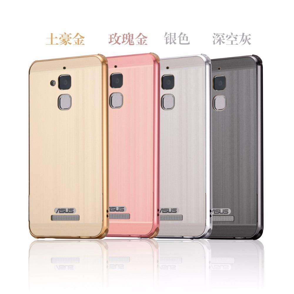 Высокое Качество Для Asus <font><b>Zenfone</b></font> <font><b>3</b></font> Макс ZC553KL 5.5 дюймов Анти Стук Роскошный Металлический Бампер + Матовый Акриловый Обложка Корпус смартфона