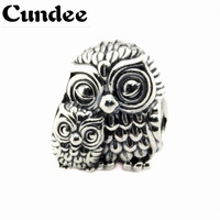 Fits Pandora Bracelets Charming Owls Silver Beads Authentic 925 Sterling Silver Charms DIY Jewelry Wholesale