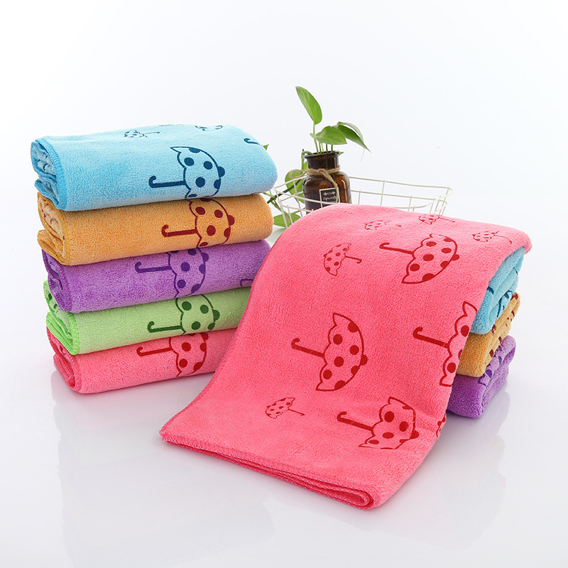 Sale 1pc 2018 Cute Microfiber Absorbent Drying Bath Towel Thick Printed Umbrella Bath Towel Bathroom Supplies Beauty & Health Bath & Shower