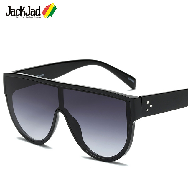 7991a1079d2a JackJad 2018 New Fashion Shield Style Three Dots Sunglasses Women Men Cool  Brand Design Sun Glasses