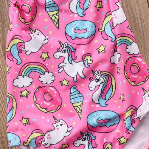 3ab2f0043e029 ... 2018 New Cute Kids Baby Girl Unicorn Pink One-Piece Bikini Halter Neck  Swimwear Swimsuit