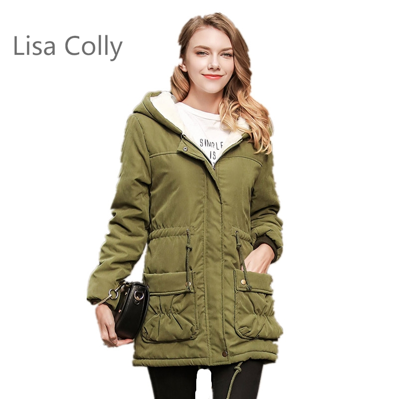 Lisa Colly 2017 New Style Winter Jacket Women Parka Jacket Women Cotton Padded Jacket 5 Colours lisa corti короткое платье