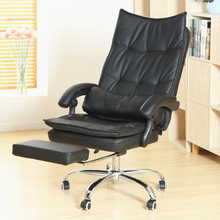 Luxury Fashion Super Soft Leisure Lying Boss Chair Rotary Lifting Computer Chair With Footrest Thicken Cushion Swivel Chair computer office boss chair household lying executive chair super soft leisure swivel lift synthetic leather chair with footrest