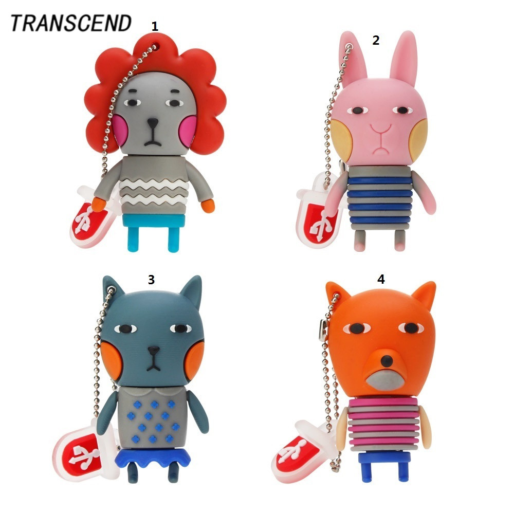 Transcend cartoon rabbit model usb2.0 flash drive 4GB 8GB 16GB 32GB 64GB Removable Pendrives storage disk device company gifts