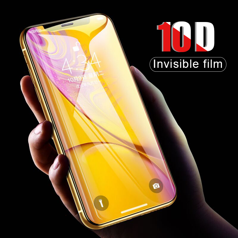 purchase cheap 286db 0a2b5 US $2.54 25% OFF|10D Full Cover Protective Glass For IPhone X XR XS MAX  Tempered Glass Film For IPhone XS X Max XR Screen Protector Glass Film-in  ...