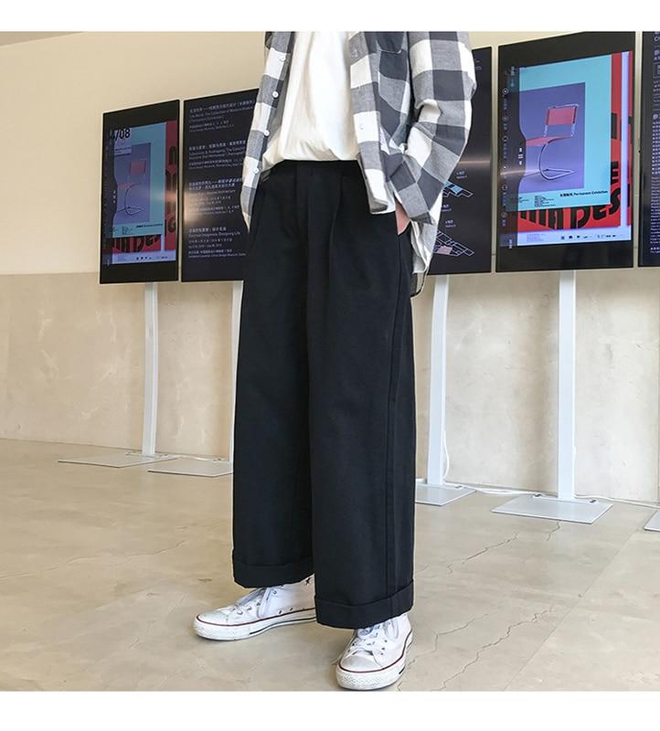 Zogaa Vintage Pants Overalls Men 2019 Mens Streetwear Wide Leg Harem Pants Male Korea Style Fashions Designer Straight Trousers