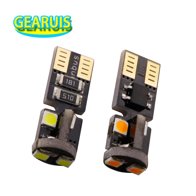 Automobiles & Motorcycles 100pcs T10 Canbus Non Polar W5w Led 6 Smd 3030 5w5 Car Lamp 2w 12v Bulb Wedge Clearance Lights Car Light Source Amber Ice Blue Agreeable Sweetness