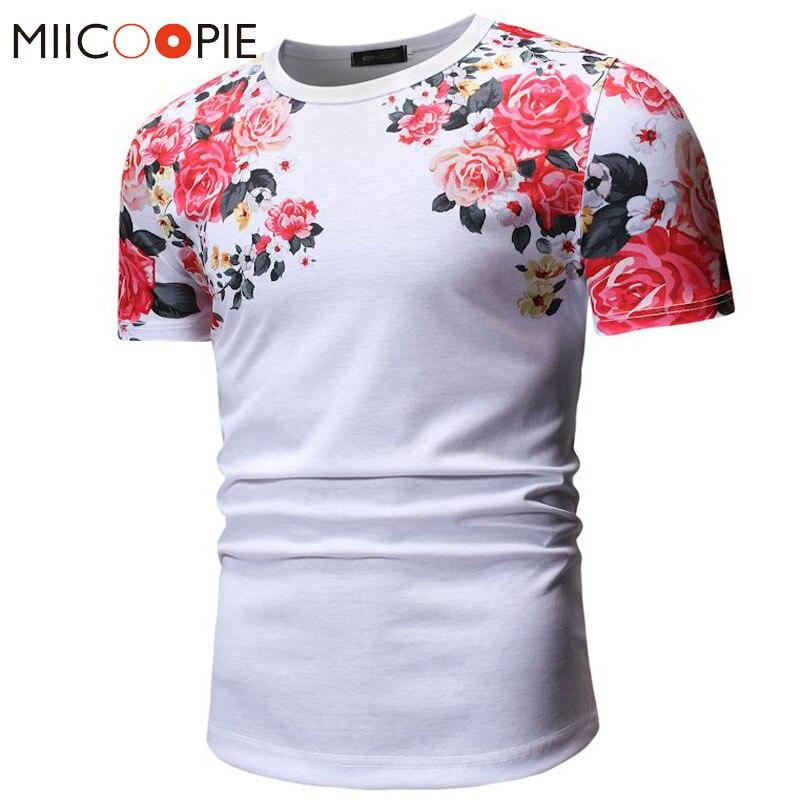 Camiseta con estampado de flores hermosas de verano para hombres/mujeres Harajuku Camiseta de manga corta Floral Homme Streetwear Camiseta Hombre