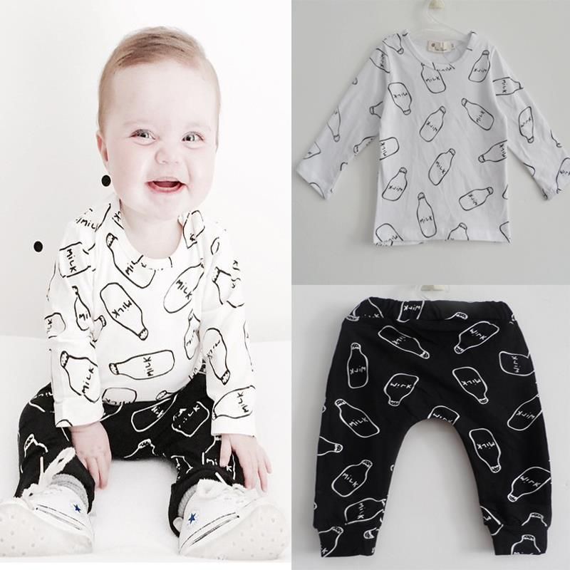 Aliexpress Buy 2016 New Baby Outfits Set Suits Milk