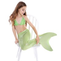 2PCS/Set Swimmable Baby kids Mermaid Tail Cosplay Costume Kids Ariel Fancy Dress For girls Swim Bikini Set zeemeerminstaart met