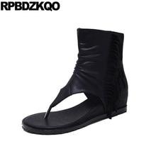 Высота увеличена черный на каблуке короткая кисточка клинья Ботинки лодыжки для женщин средней пятки сандалии обувь дешево летние 2017 бахрома Открытый носок новый мода женская женский китайский