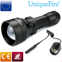 UniqueFire UF 1407 IR940NM LED Flashlight T38 Tactical Zooming Flashlight +Rat Tail Switch For Night Vision Hunting Illuminated
