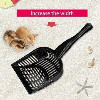 Multifunctional Cat Litter Scoop Black Pet Supply Universal Enlarge Large Size Cat Litter Shovel Practical Pet Pooper Scooper 1