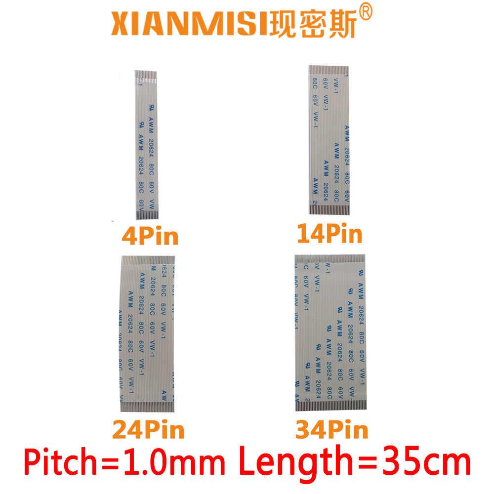 FFC/FPC Platte Flex Verlengkabel 4Pin 14Pin 24Pin 34Pin Dezelfde Kant 1.0mm Pitch AWM VW-1 20624 20798 80C 60 V Lengte 35 cm 5 STKS