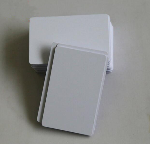 50pcs/lot thermosensitive blank PVC card two side overlay suit for make member card /company Card/credit card image