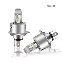 Par Philips ZES Chip H4 H7 levou 80W 18000LM 9S Integrado Farol Do Carro Hi / Lo Feixe de Auto Lampadas Canbus Universal Branco
