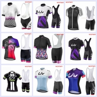 2019 Summer Pro Cycling Jersey Sets LIV Team Breathable Women Cycling Clothing Kits Outdoor Sports Suits MTB Bicycle Wear L1402