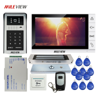 Free Shipping 9 LCD Screen Video Door Phone Intercom Kit Outdoor RFID Code Keypad Doorbell Camera