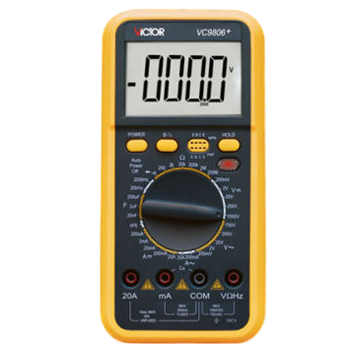 LIXF VICTOR LCD 4 1/2 Digital Multimeter VC9806+ victor digital multimeter 4 1 2 t rms
