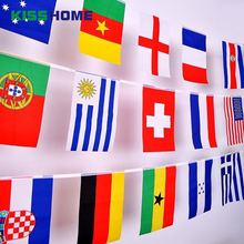2018 Russian Soccer World Cup Flags National 7# 8# Flag High Quality Multi-color String 32 Striker Country Team