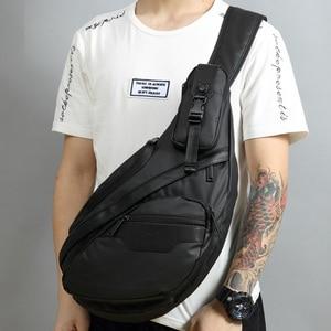 Image 1 - Mannen Waterdichte Nylon Sling Borst Terug Pack Hoge Kwaliteit Casual Messenger Schoudertas Man Cross Body Bag Fashion Rugzak Knapzak